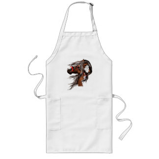 Paint Horse and Feathers Aprons