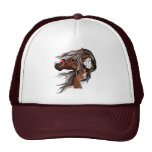 Paint Horse and Feathers Hat