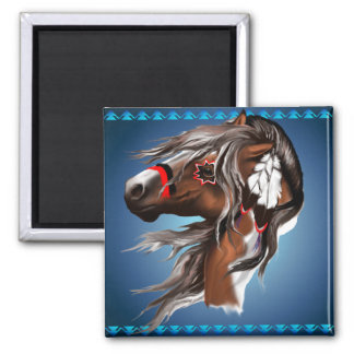 Paint Horse and Feathers Magnet