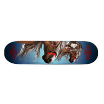 Paint Horse and Feathers Skateboard
