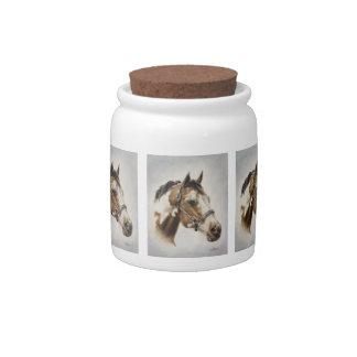 Paint Horse Candy Jar