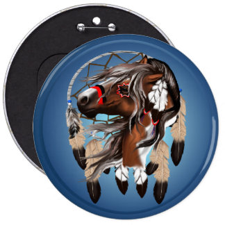 Paint Horse Dreamcatcher Button