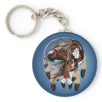 Paint Horse Dreamcatcher Keychain