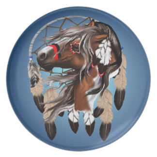 Paint Horse Dreamcatcher Plate