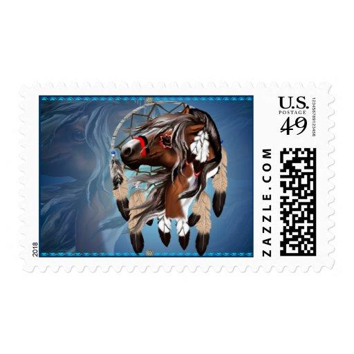 Paint Horse Dreamcatcher Postage