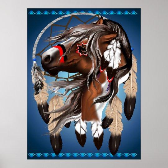 Paint Horse Dreamcatcher Print