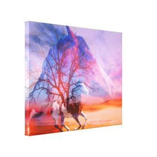 Paint Horse dreams Canvas Print