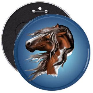 Paint Horse Face Button