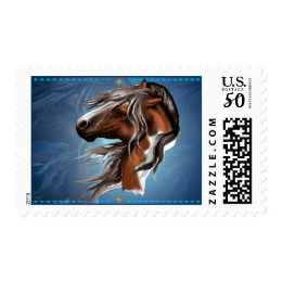 Paint Horse Face Postage