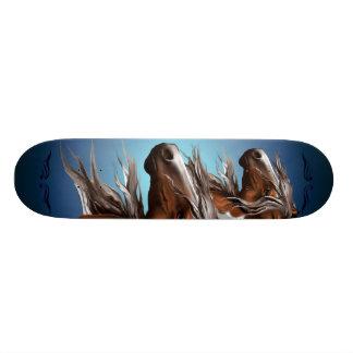 Paint Horse Face Skateboard