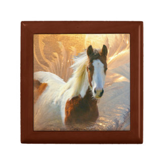 Paint Horse Gold Gift Box