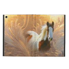 Paint Horse Gold Ipad Air Cover Case at Zazzle