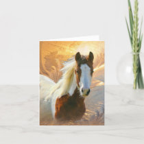 Paint Horse Gold Note Cards