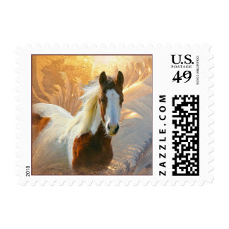 Paint Horse Gold Postage Stamps
