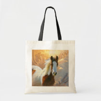 Paint Horse Gold Tote Bags