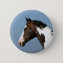 Paint Horse Headshot 1 Pinback Button