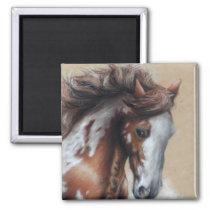 Paint horse in desert magnet