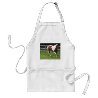 Paint Horse in the Pasture Adult Apron