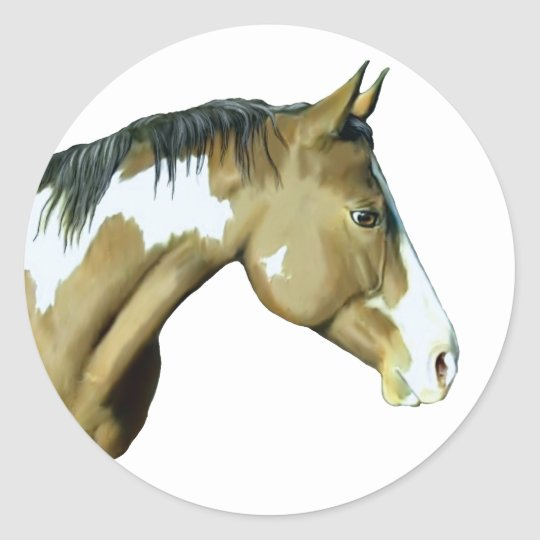 Paint Horse, Lady Classic Round Sticker