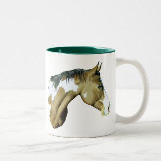 Paint Horse, Lady Two-Tone Coffee Mug