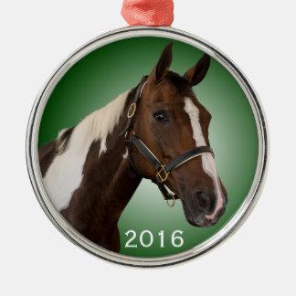 Paint Horse Ornament Green