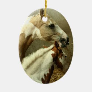 Paint Horse Pair  Ornament