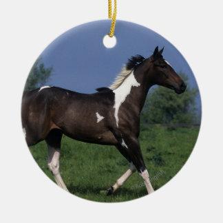 Paint Horse Running 2 Ceramic Ornament