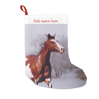 Paint Horse snow Christmas Stocking Small Christmas Stocking
