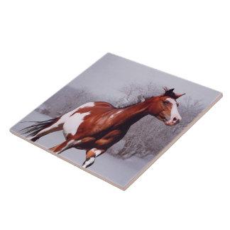 Paint Horse Snow Tile