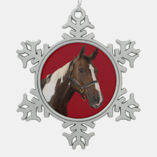 Paint Horse Snowflake Ornament