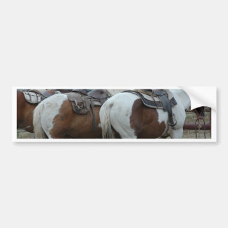 Paint Horse Tail Bumper Stickers