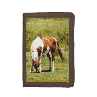 Paint Horse Tri-Fold Tri-fold Wallet