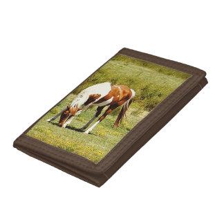 Paint Horse Tri fold Wallet
