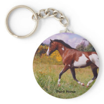Paint Horse trotting Key chain