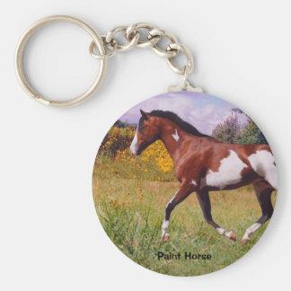 Paint Horse trotting Key chain