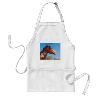 Paint Horse War Pony Feathers Apron