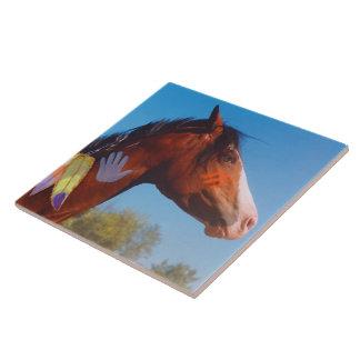 Paint Horse War Pony Tile