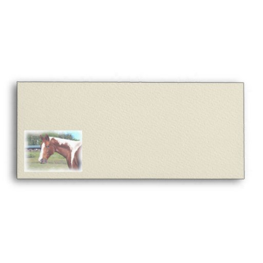 Paint Horse Watercolor Artwork Stationary Envelope