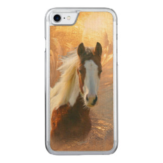 Paint Horse Wood Carved iPhone 8/7 Case