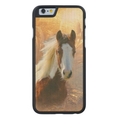 Paint Horse Wood Carved® Maple iPhone 6 Slim Case