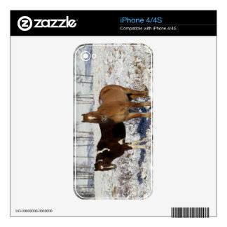 Paint Horses in the Snow Decal For The iPhone 4S
