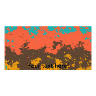 Paint in retro colors card