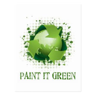 PAINT IT GREEN POSTCARD