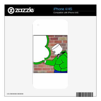 paint it on the wall and everything else iPhone 4S skin