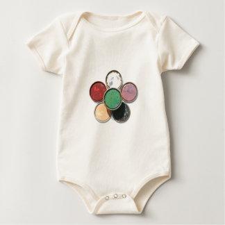 paint lid flower baby bodysuit