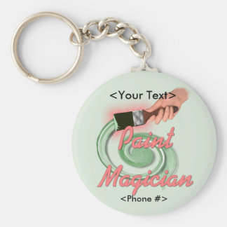 Paint Magician - Customize Basic Round Button Keychain