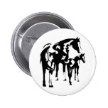 Paint Mare and Foal 2 Inch Round Button