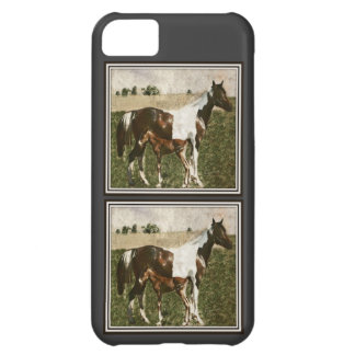Paint Mare and Foal iPhone 5C Covers