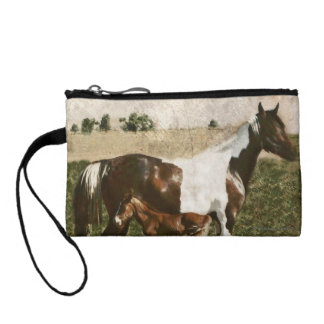 Paint Mare and Foal Coin Purse