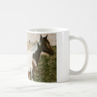Paint Mare and Foal Classic White Coffee Mug